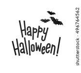 happy halloween vector... | Shutterstock .eps vector #496764562
