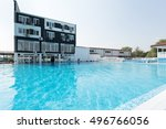 outdoors swimming pool     Shutterstock . vector #496766056