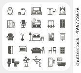 furniture icons set  home... | Shutterstock .eps vector #496773676