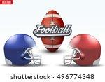 american football symbol.... | Shutterstock .eps vector #496774348