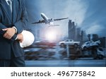 business man standing and the... | Shutterstock . vector #496775842