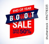 end of year blowout sale banner.... | Shutterstock .eps vector #496778335