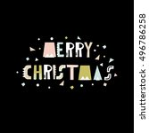 merry christmas greeting... | Shutterstock .eps vector #496786258