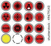 attention icons for laboratory.   Shutterstock .eps vector #49679143
