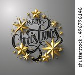 "calligraphic ""merry christmas"" ... 