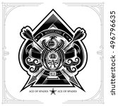 ace of spades from thistle... | Shutterstock .eps vector #496796635