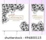 vintage delicate invitation... | Shutterstock . vector #496800115
