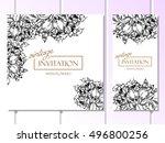 vintage delicate invitation... | Shutterstock . vector #496800256