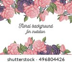 romantic invitation. wedding ... | Shutterstock . vector #496804426