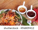 bibimbap korean food is... | Shutterstock . vector #496809412