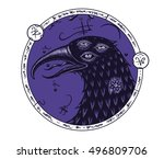 Mystical Three Eyed Raven With...