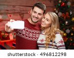 christmas  holidays  technology ... | Shutterstock . vector #496812298