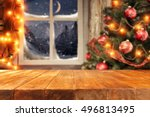background of xmas time and... | Shutterstock . vector #496813495