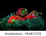 eko paprika and kale of... | Shutterstock . vector #496817152