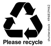 black recycle symbol with text... | Shutterstock .eps vector #496819462