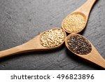 quinoa  chia and amarantus... | Shutterstock . vector #496823896