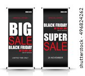 black friday roll up sale... | Shutterstock .eps vector #496824262