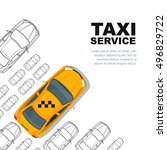 taxi service concept. vector... | Shutterstock .eps vector #496829722