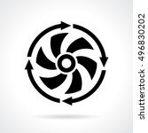 cooler propeller vector icon...   Shutterstock .eps vector #496830202