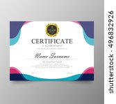 certificate template awards... | Shutterstock .eps vector #496832926