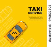 Stock vector taxi service concept vector yellow banner poster or flyer background template yellow cab and 496833508