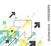 abstract success concept.... | Shutterstock .eps vector #496838896