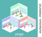 isometric interior of yoga... | Shutterstock .eps vector #496846765