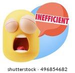 3d rendering tired character... | Shutterstock . vector #496854682