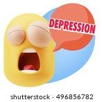 3d rendering tired character... | Shutterstock . vector #496856782