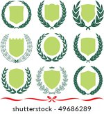 insignia designs set 9 shields  ... | Shutterstock .eps vector #49686289