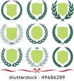insignia designs set 9 shields  ... | Shutterstock .eps vector #49686289