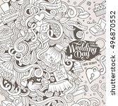 cartoon cute doodles hand drawn ...   Shutterstock .eps vector #496870552