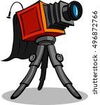 Old Retro Photo Camera With...