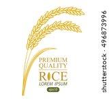 rice. vector illustration. | Shutterstock .eps vector #496873996