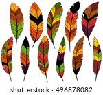 thanksgiving or fall colored... | Shutterstock .eps vector #496878082