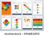 modern infographic vector... | Shutterstock .eps vector #496881892