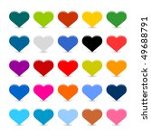 matted color heart web buttons... | Shutterstock .eps vector #49688791