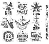 Music Black White Emblems Of...