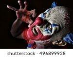 Closeup Of A Scary Evil Clown...