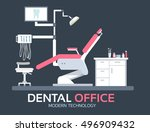 flat dentist office... | Shutterstock .eps vector #496909432