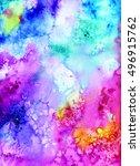 watercolor background....   Shutterstock . vector #496915762