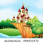 castle on a hill | Shutterstock .eps vector #496921972