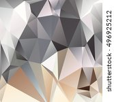 abstract polygonal mosaic... | Shutterstock .eps vector #496925212