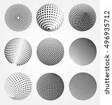 halftone 3d spheres.halftone... | Shutterstock .eps vector #496935712