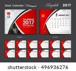 desk calendar 2017 template... | Shutterstock .eps vector #496936276