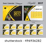 desk calendar 2017 template...   Shutterstock .eps vector #496936282