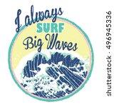 surfing artwork. black's beach...   Shutterstock .eps vector #496945336