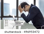 stress serious planning... | Shutterstock . vector #496953472