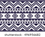 geometric ethnic pattern design ... | Shutterstock .eps vector #496956682