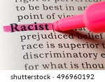 Small photo of Fake Dictionary, Dictionary definition of the word racist.
